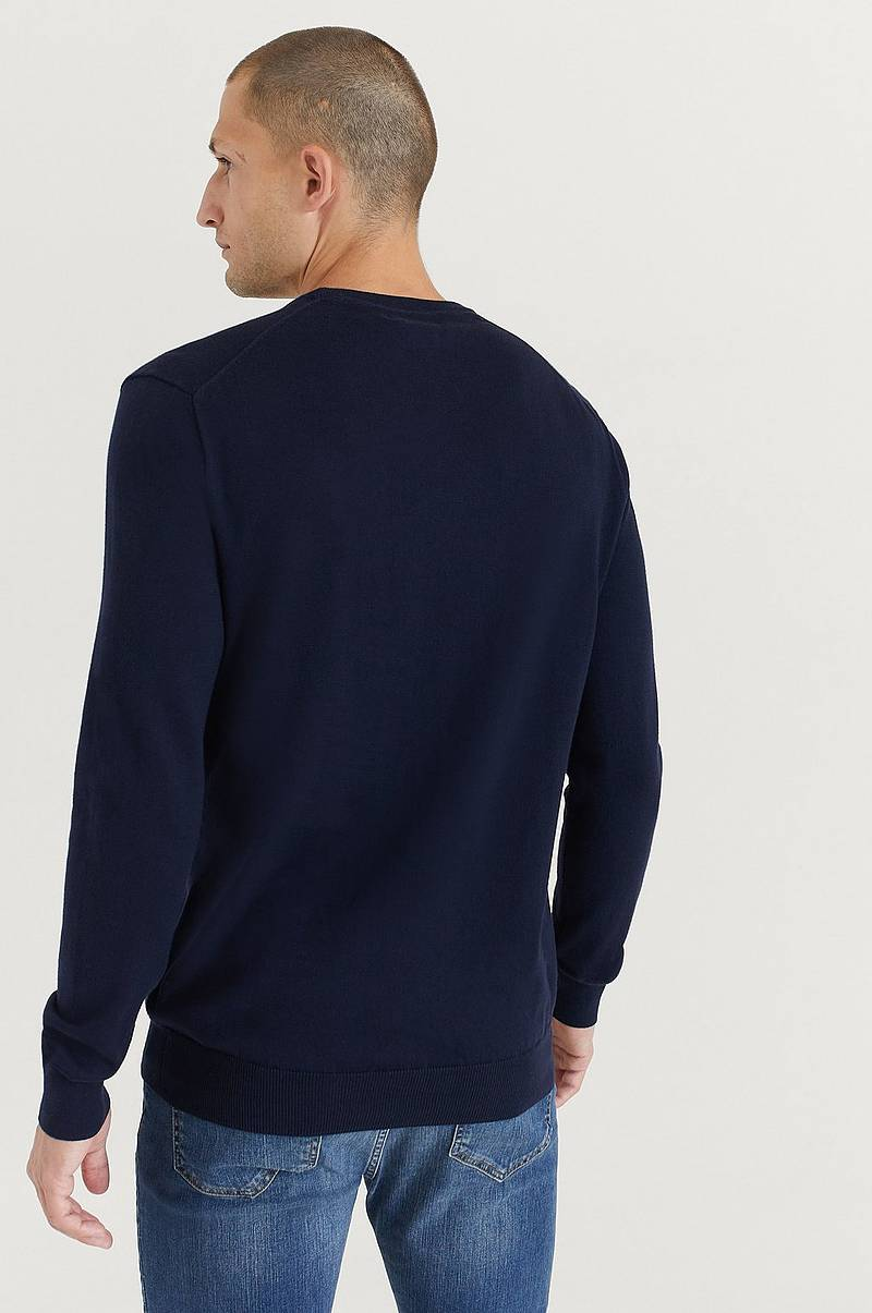 Stickad Tröja Pima Cotton Long sleeve
