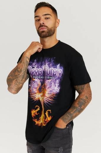 Rock Off T-Shirt Deep Purple Tee Svart  Male Svart