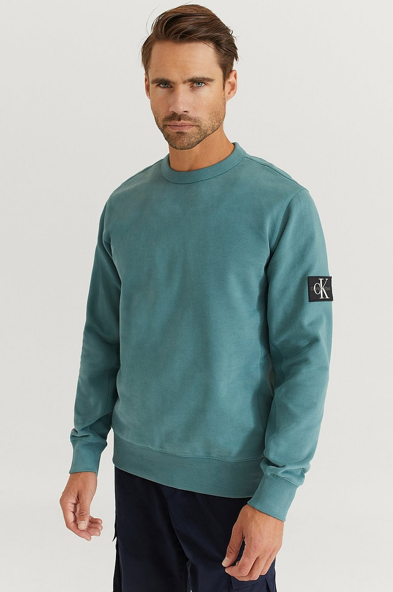Sweatshirt Monogram Badge Crew Neck