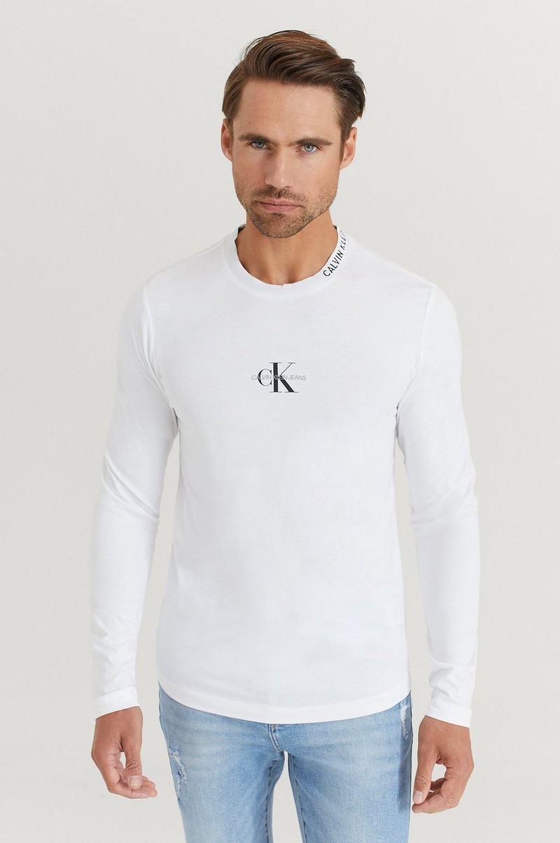 Langermet T-shirt Center Monogram LS Tee