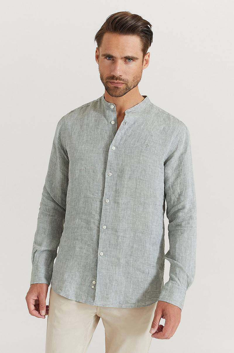 Skjorte Nicolas Band Collar Shirt