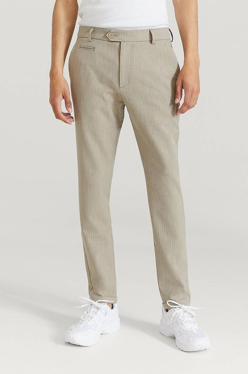 Byxor Como Light Herringbone Suit Pants