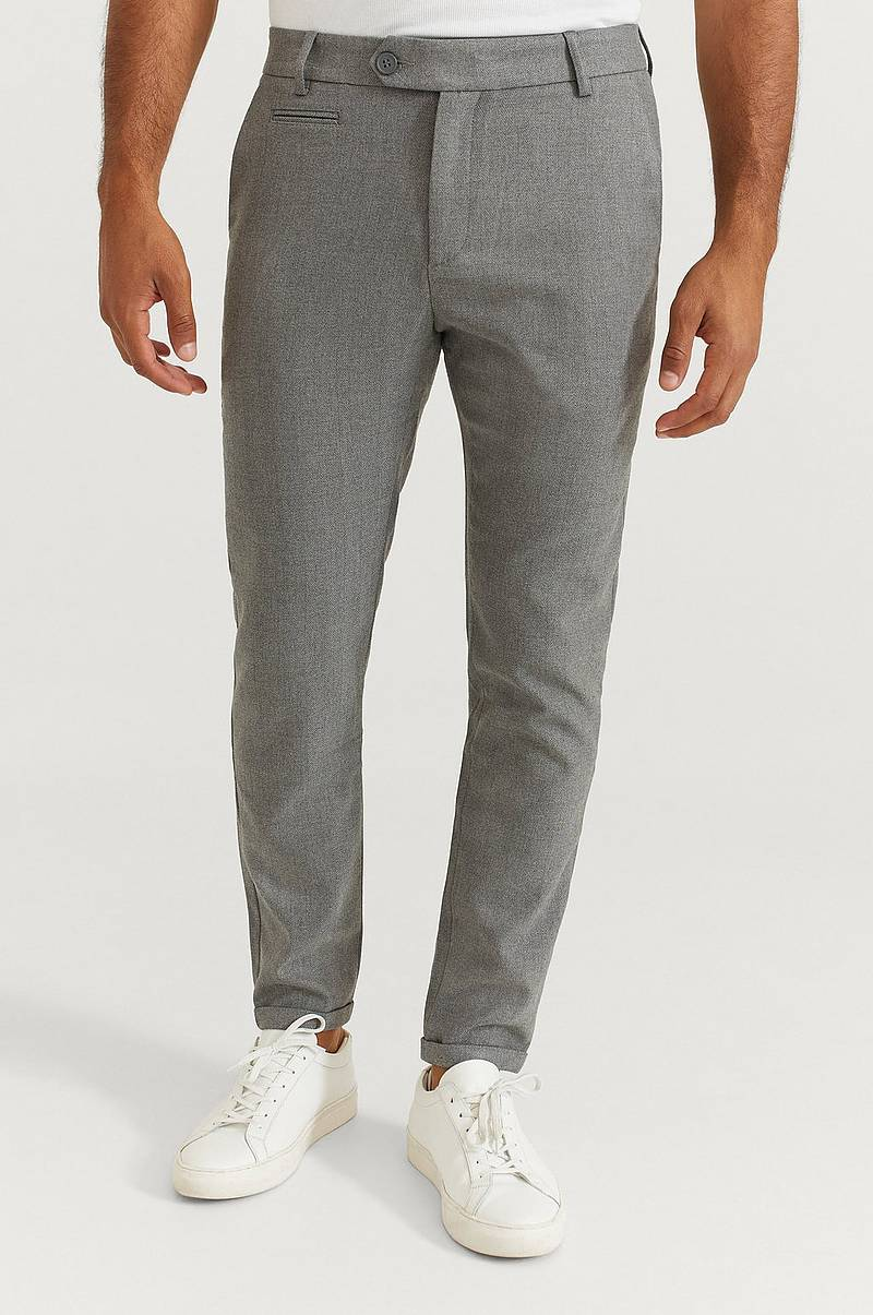 Bukse Como Herringbone Suit Pants
