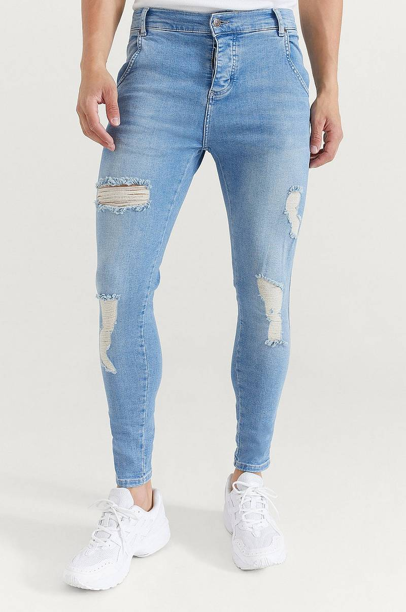 Jeans Distressed Skinny Denim
