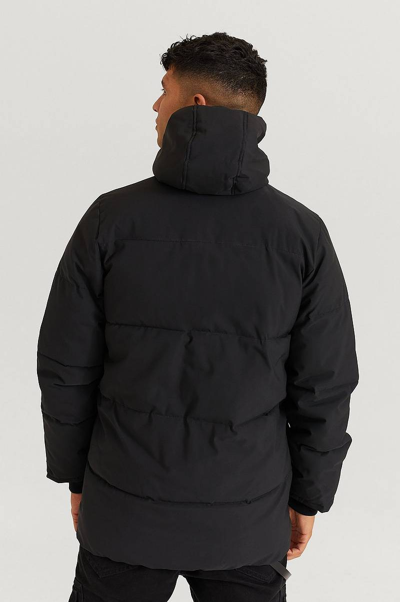 Jakke Long Downjacket w Chest Zip