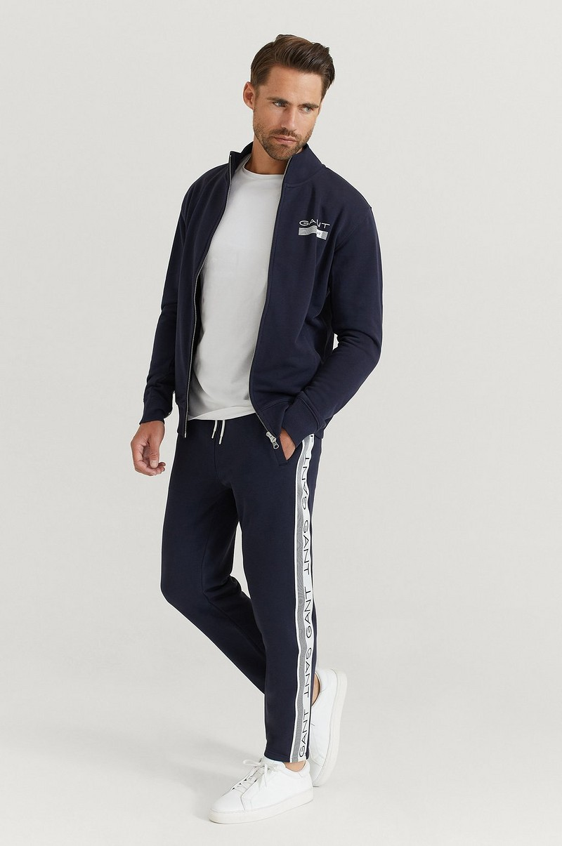 Gant Ziptröja D1. 13 Stripes Full Zip Cardigan Blå