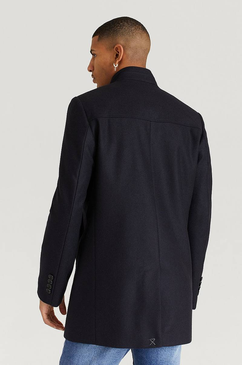 Frakke Stand Up Collar Coat