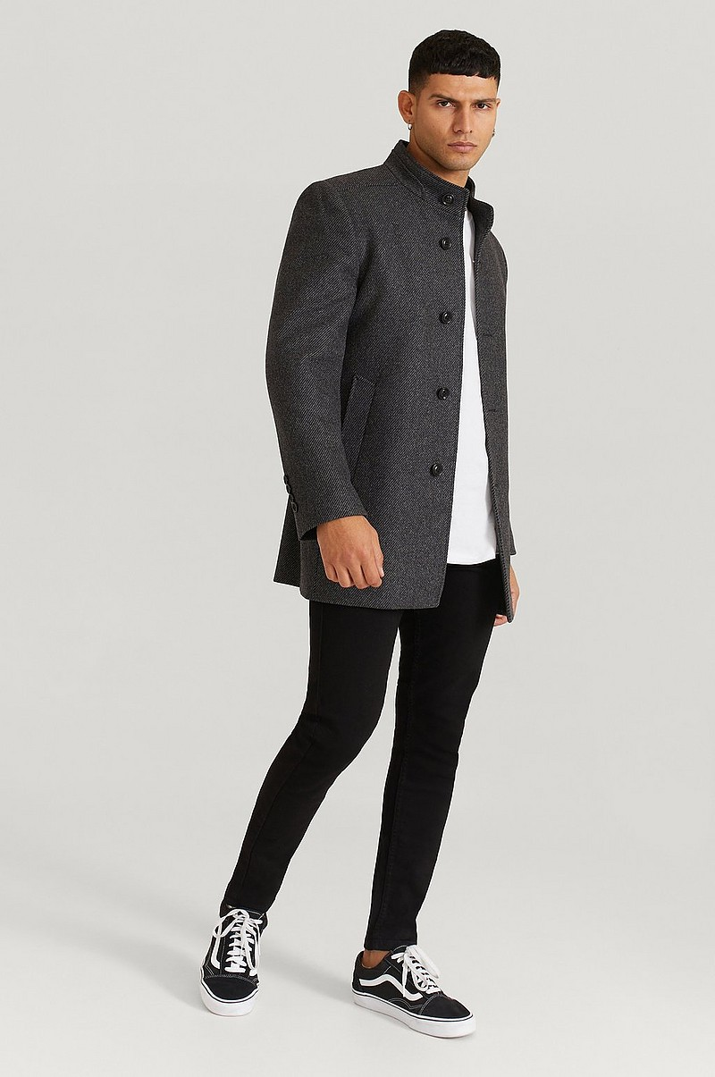 Frakk Stand Up Collar Coat