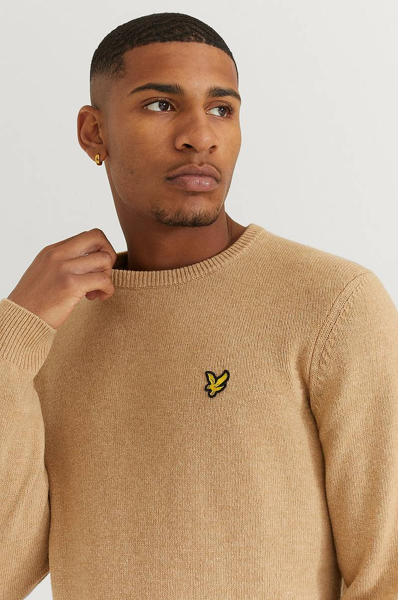 Strikket genser Crew Neck Lambswool Blend Jumper