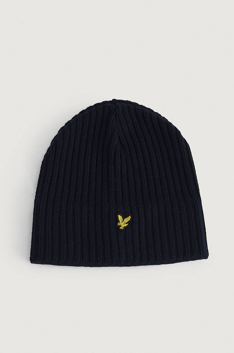Lue Knitted Ribbed Beanie