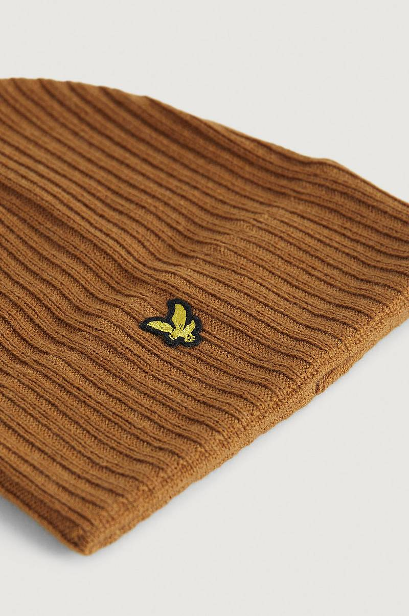 Hue Knitted Ribbed Beanie
