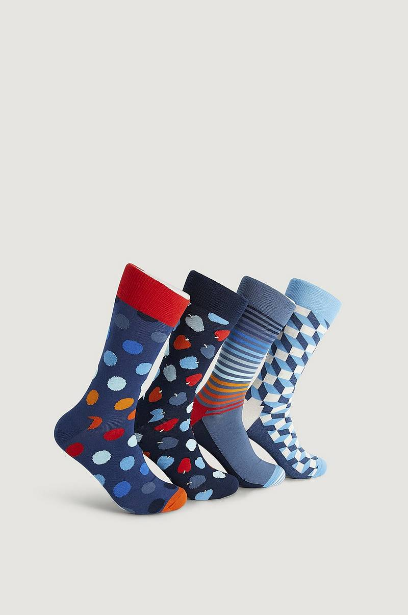 Strumpor 4-Pack Navy Socks Gift Set