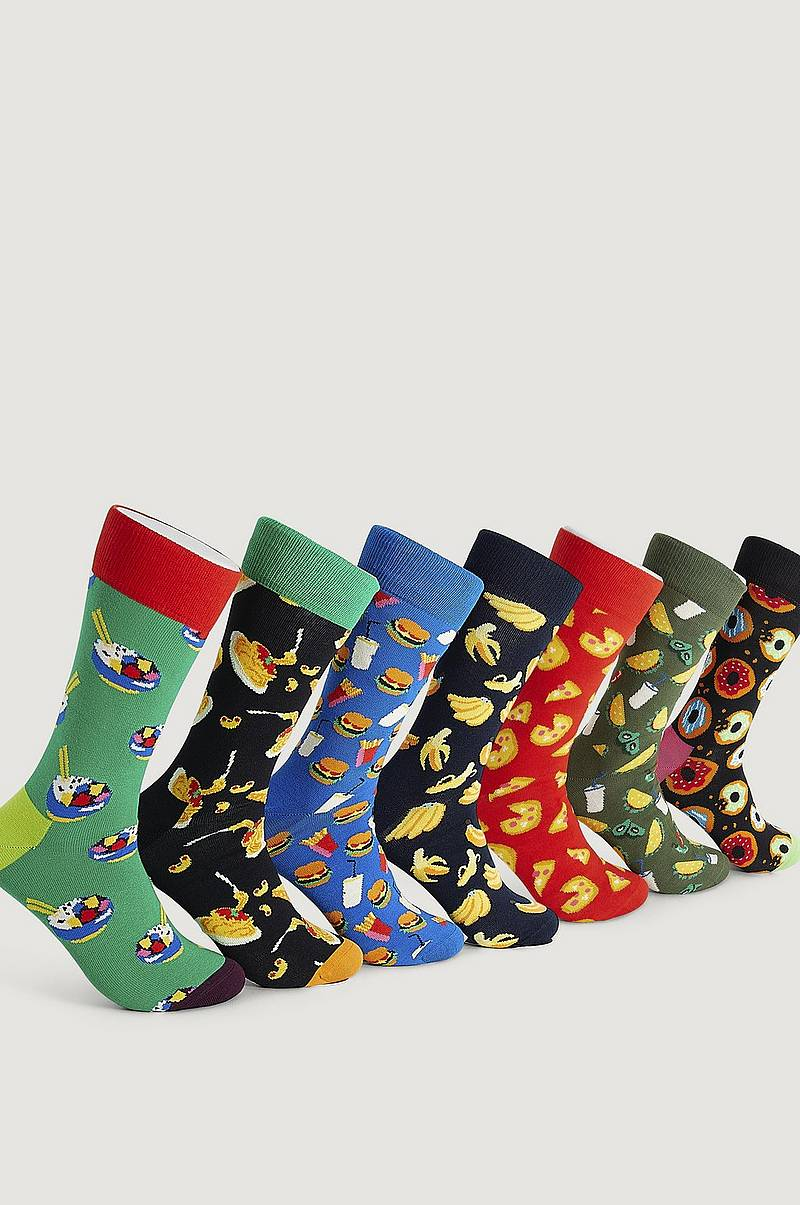 Strumpor 7-Pack 7 Days of Food Socks Gift Set
