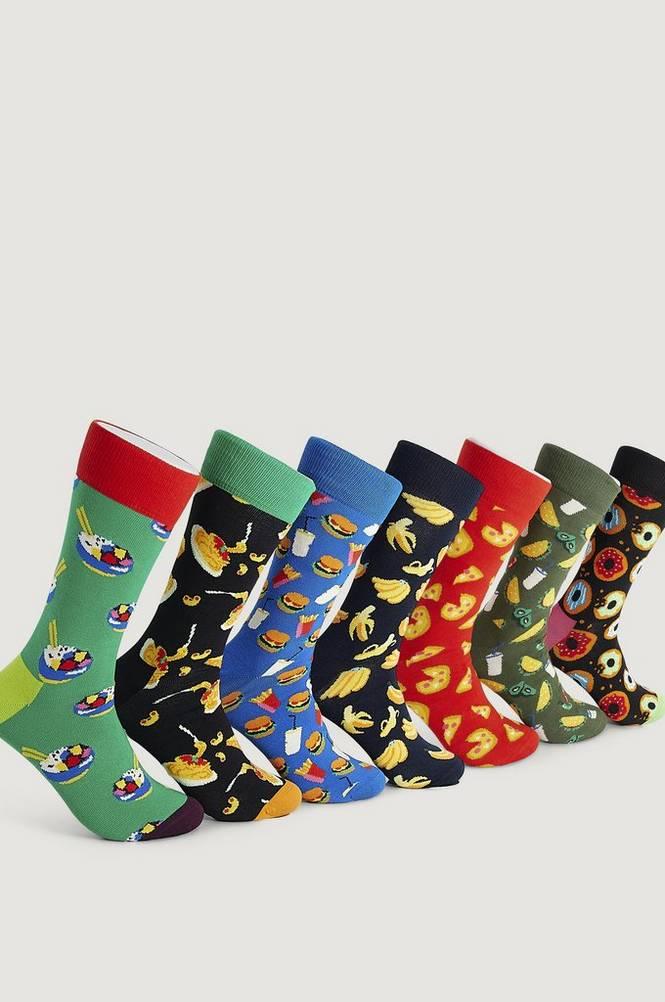 Sukat, 7 paria 7 Days of Food Socks Gift Set