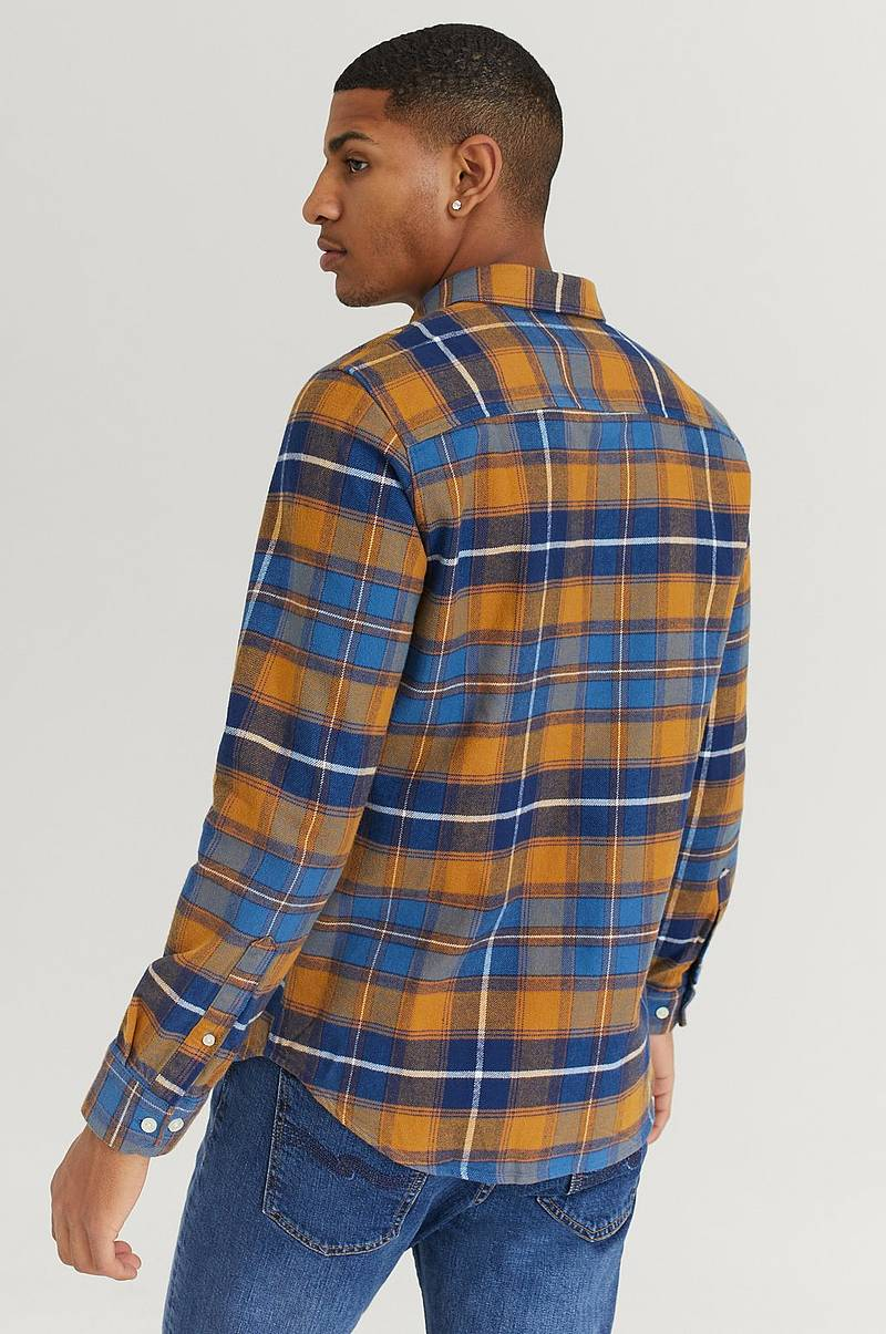 Skjorta Boston Orange Checks LS Shirt
