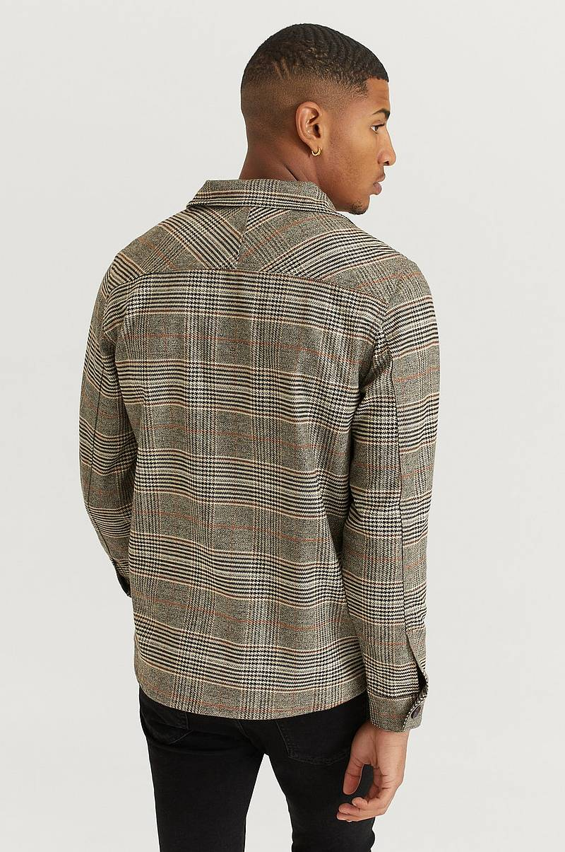 Paitatakki Clipper Big Brown Check LS Shirt
