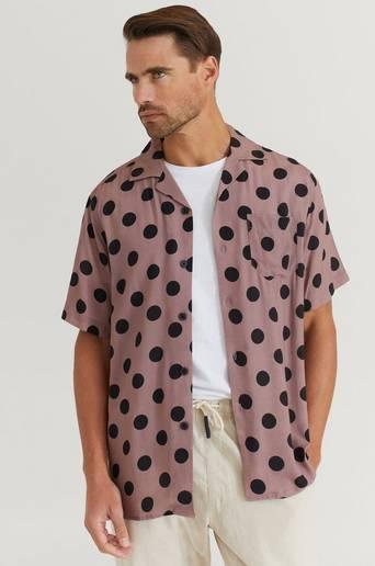 Oas Kortärmad Skjorta Shirt Svart