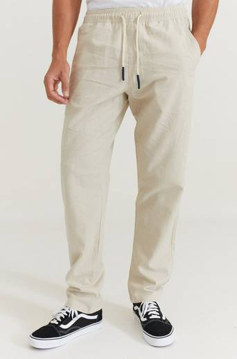 Oas Byxor Linen Long Pant Natur