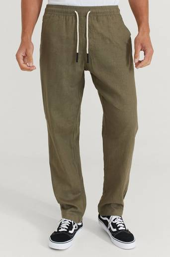 Oas Byxor Linen Long Pant Grön