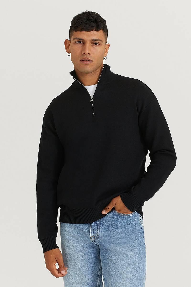 svart genser herrer roll neck