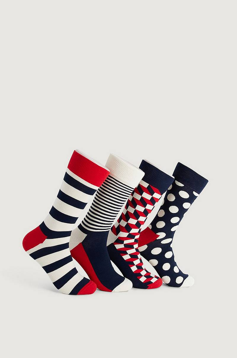 4-Pack Strumpor Classic Navy Socks Gift Set