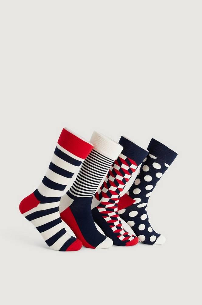 Sukat Classic Navy Socks Gift Set, 4 paria