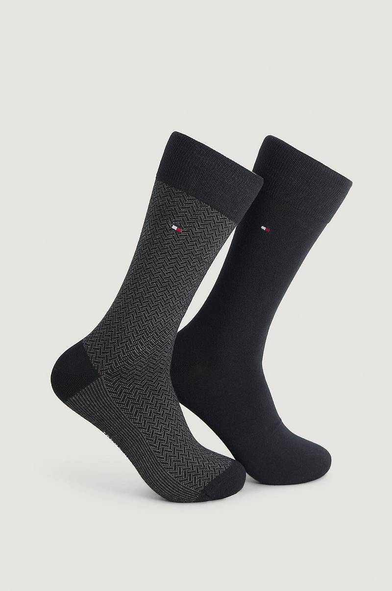 2-pak strømper TH Men Sock 2P Herringbone
