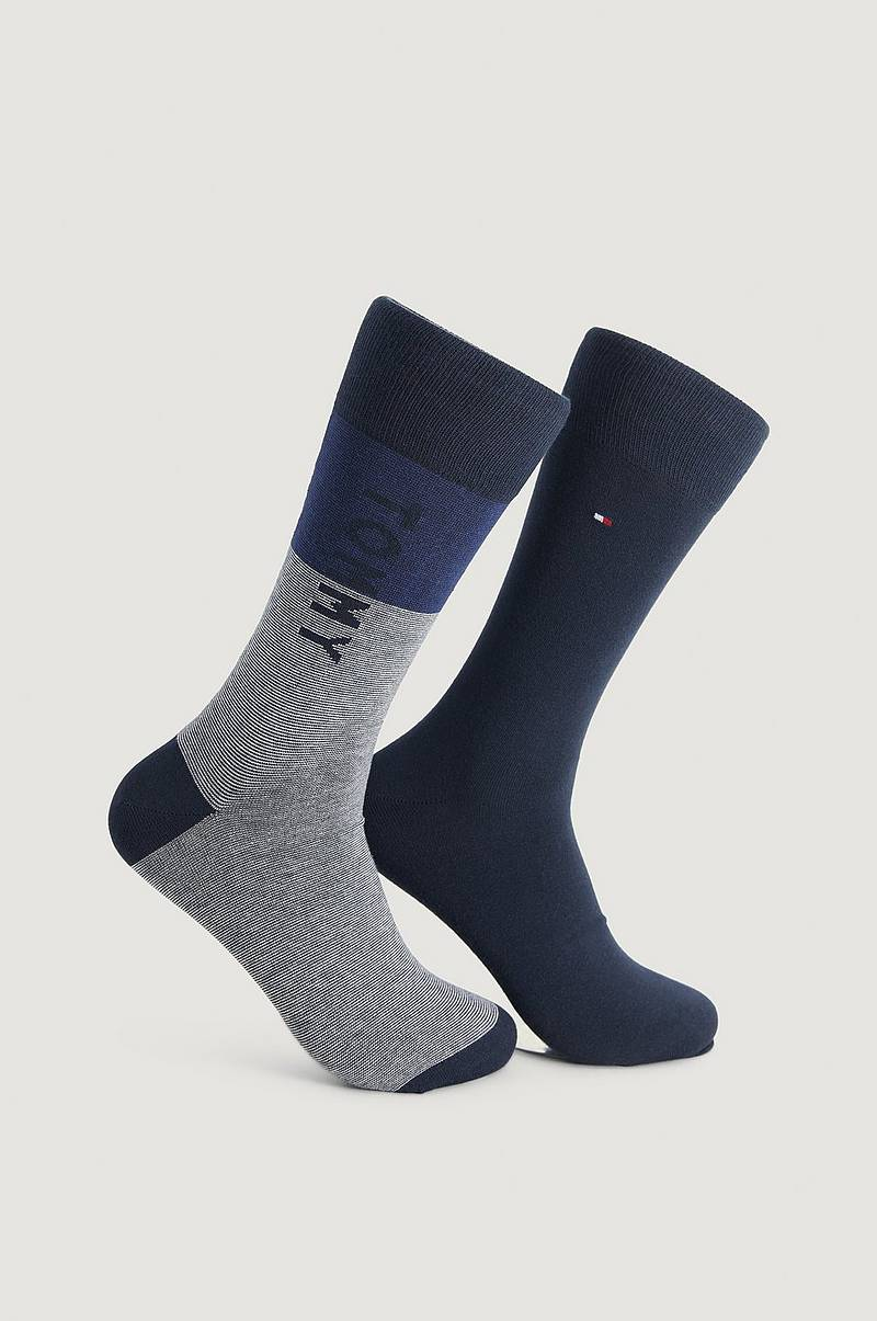 2-pak strømper TH Men Sock 2P Tommy One Row