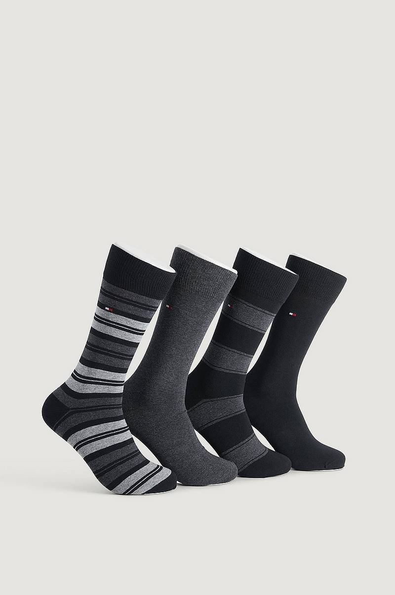 4-Pack Strumpor TH Men Sock 4P Stripe Tin Giftbox