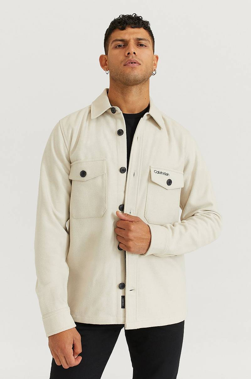 Overshirt Wool Shirt Jacket