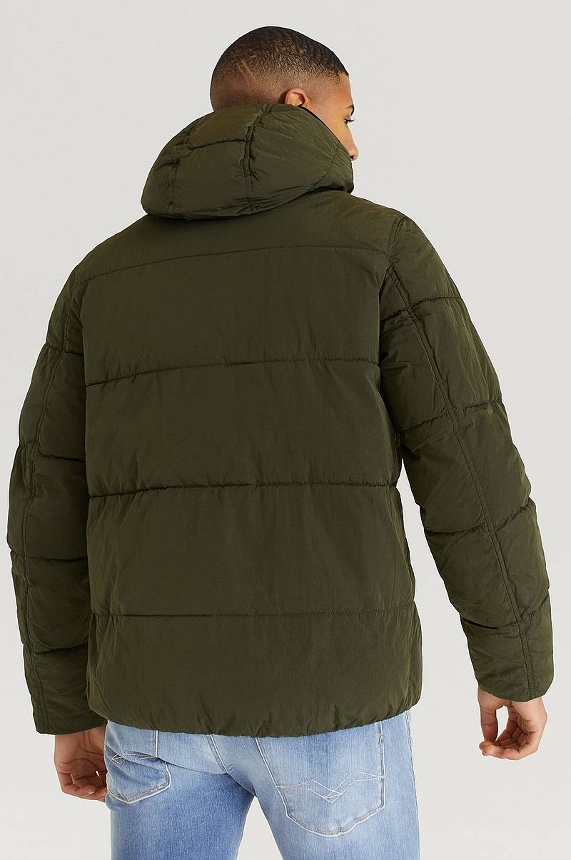 Jakke Crinkle Nylon Mid Length Jacket
