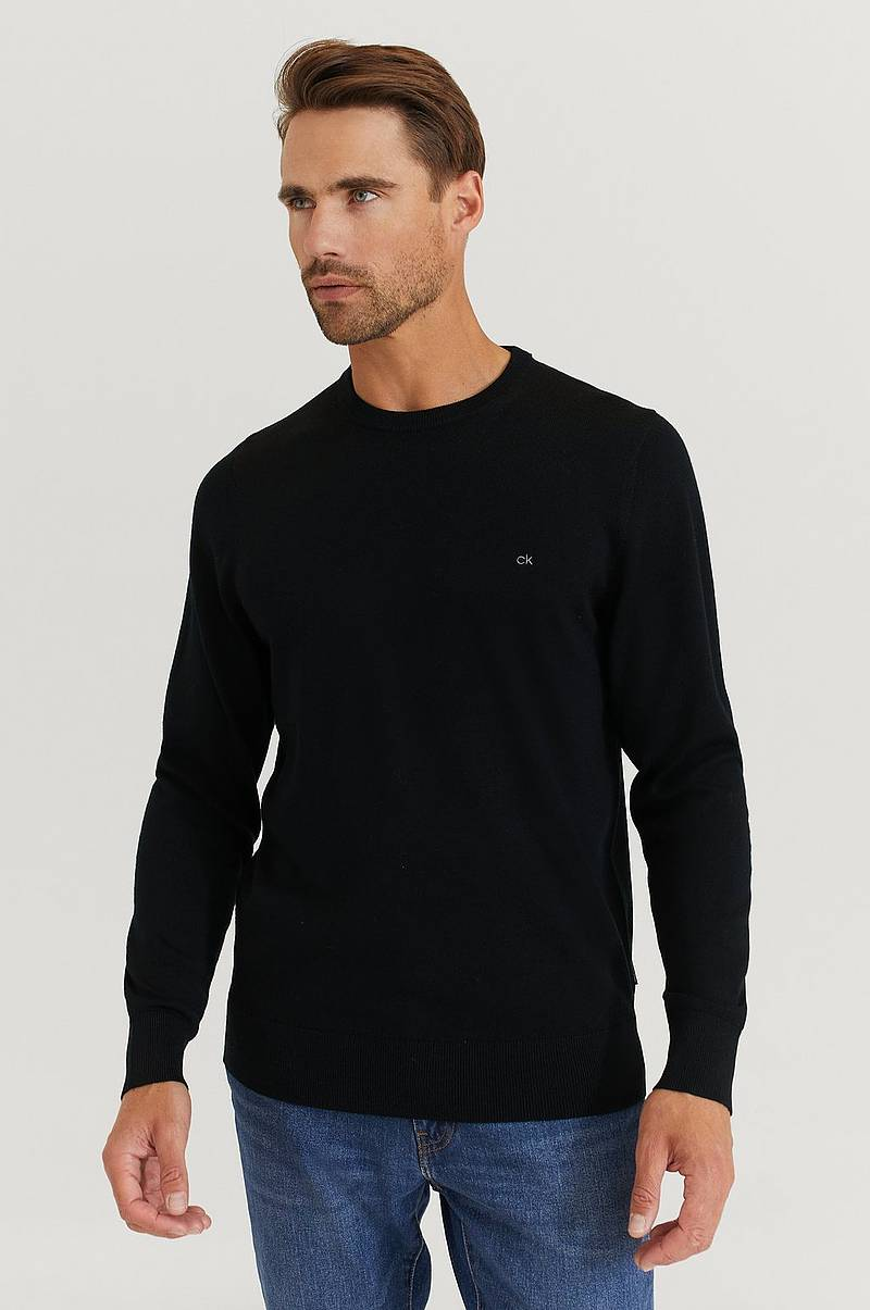 Striktrøje Superior Wool Crew Neck Sweater
