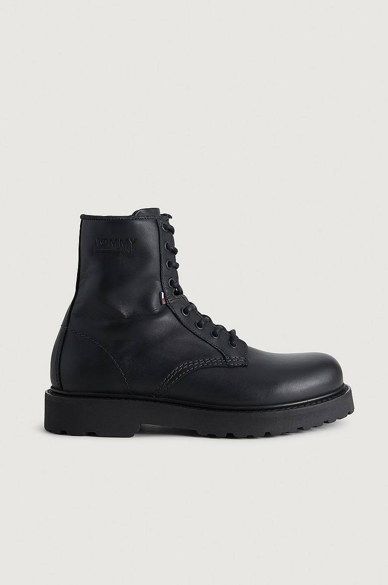 Kängor Mens Leather Lace Up Boot