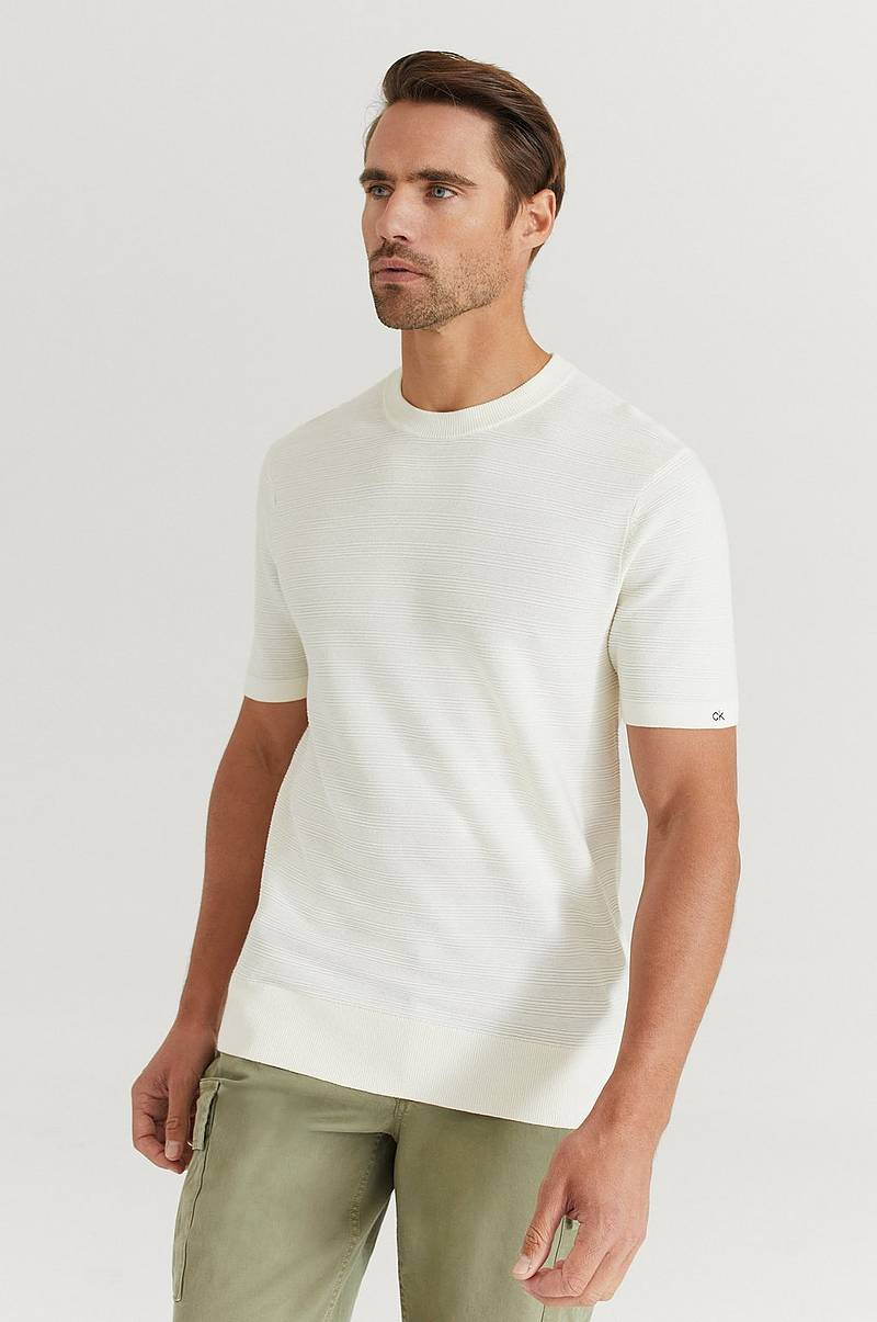 Neulepusero Texture Short Sleeve Sweater