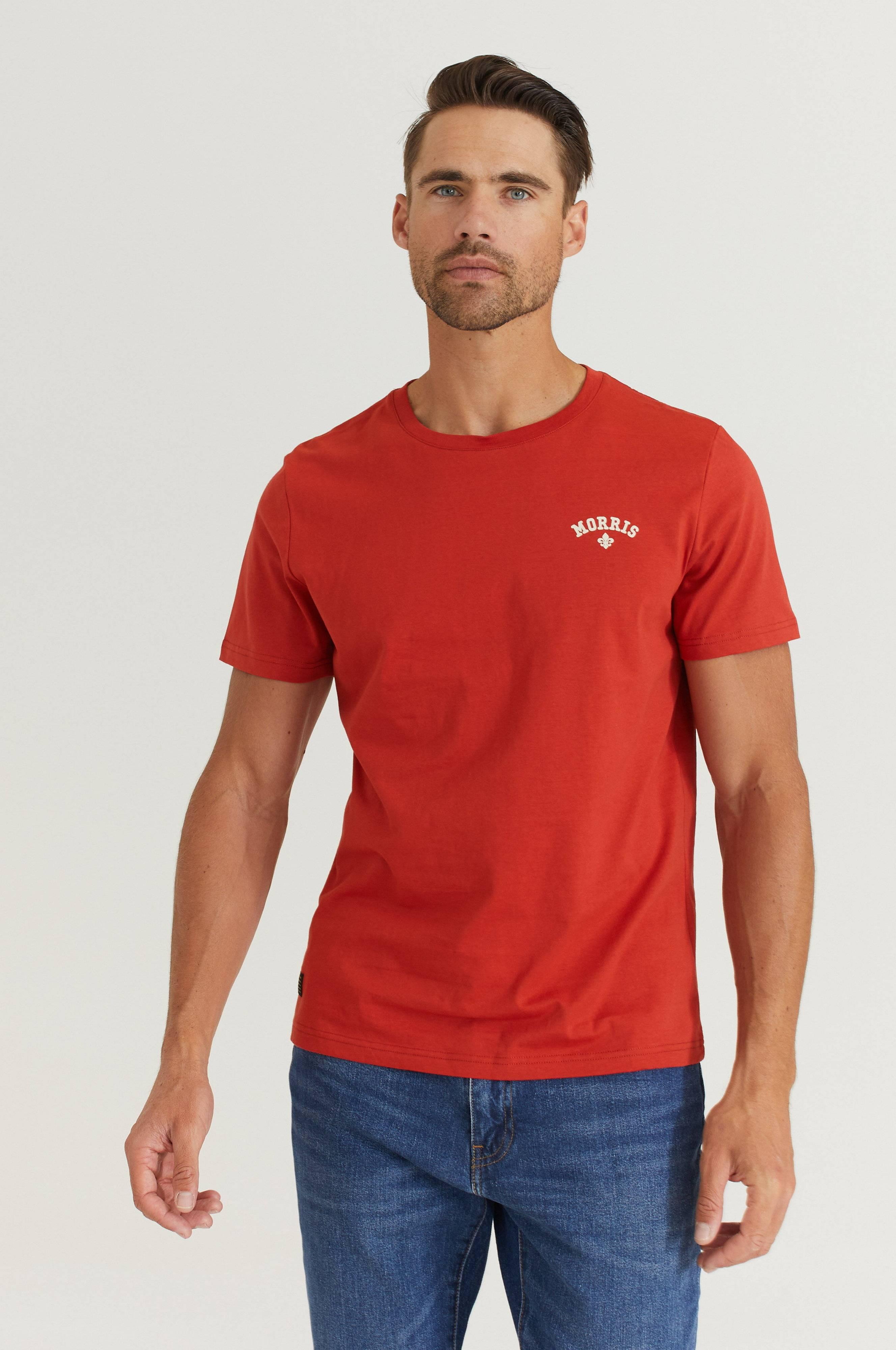 Morris T-Shirt Merton Tee Röd
