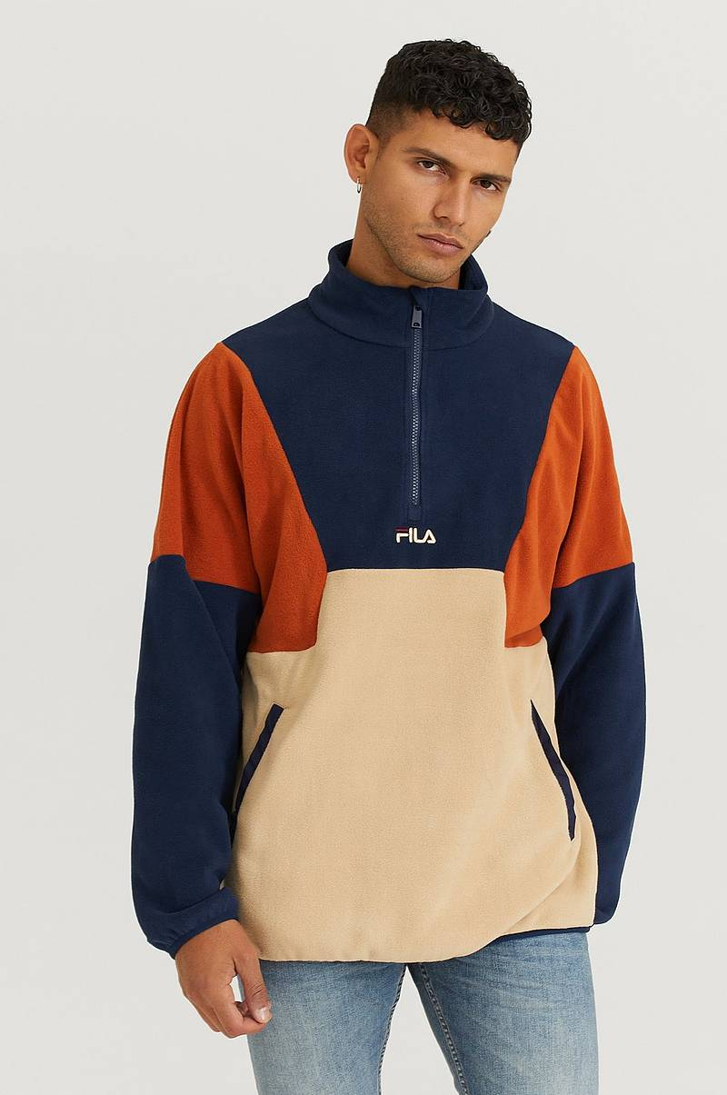 Tröja Men Wafa Blocked Half Zip Fleece