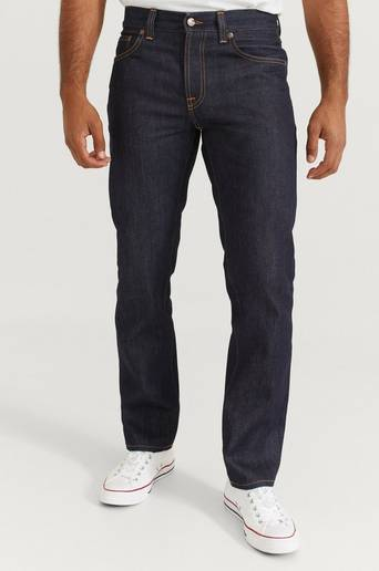 Nudie Jeans Jeans Gritty Jackson Dry Classic Navy Blå
