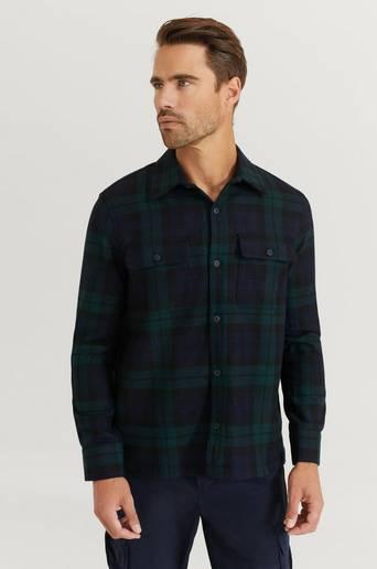 Nudie Jeans Skjorta Sten Blackwatch Wool Multi