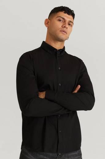 Woodbird Skjorta Trime L/S Shirt Svart