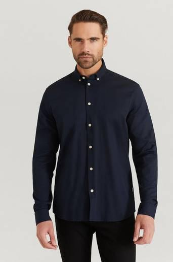 Woodbird Skjorta Trime L/S Shirt Blå