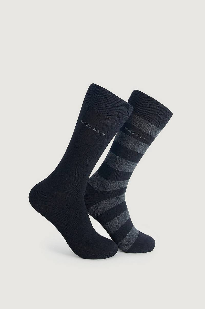 Strumpor 2-pack Block Stripe Sock