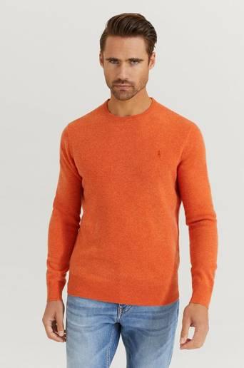 Polo Ralph Lauren Stickad Tröja Lambswool Crew Neck Orange