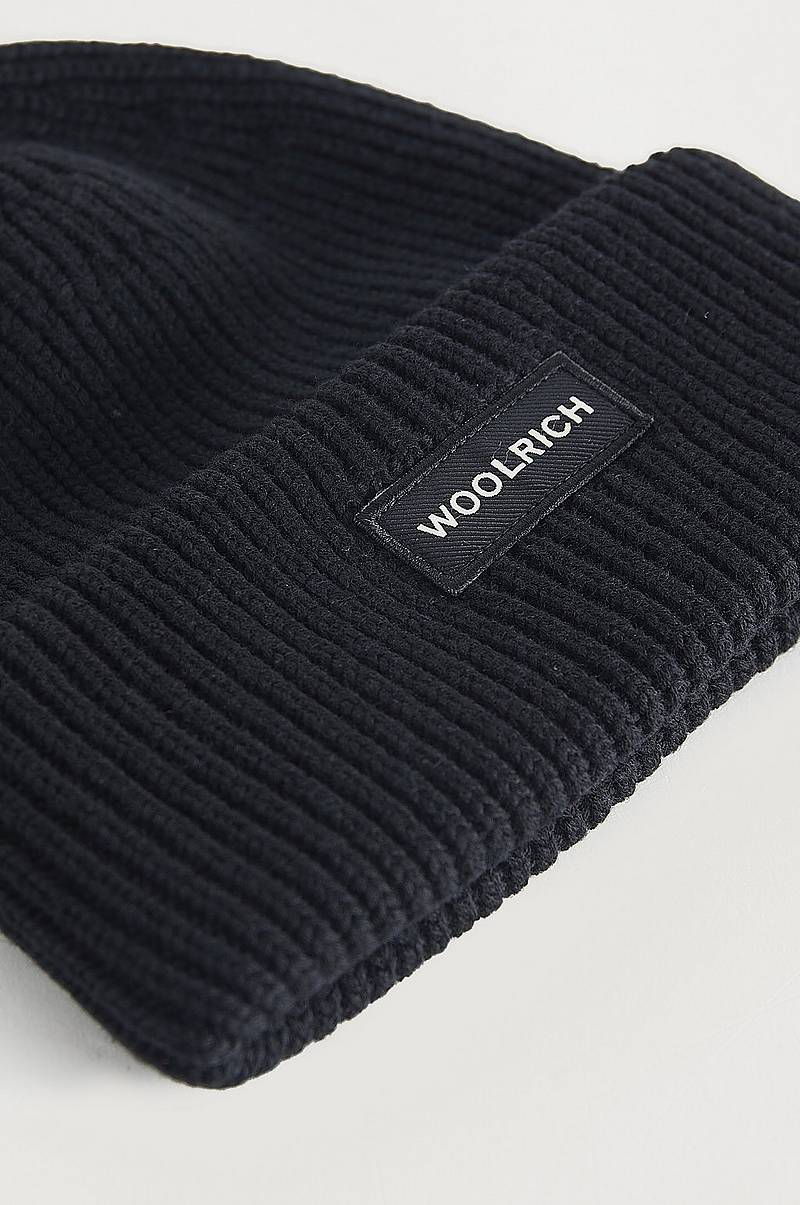 Hue Winter Wool Logo Beanie Hat