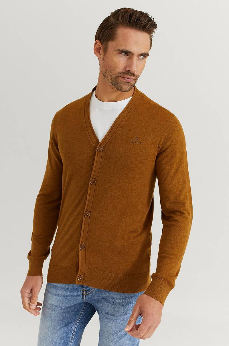 Strikket genser Elbow Patch Cardigan