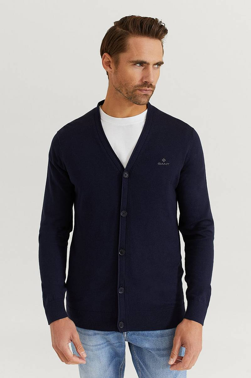 Striktrøje Elbow Patch Cardigan