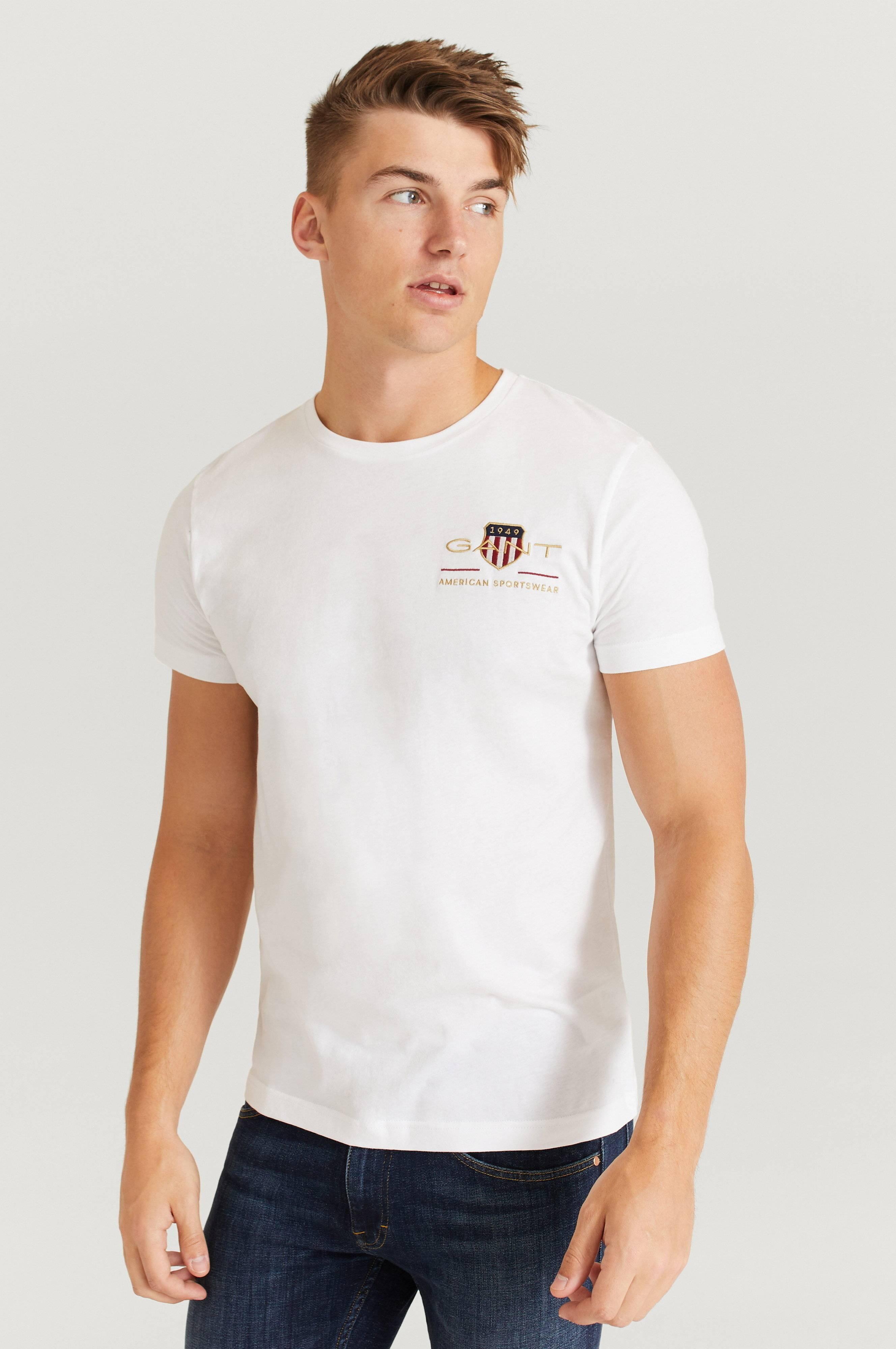 Gant T-Shirt Arcive Shield EMB SS T-Shirt Vit