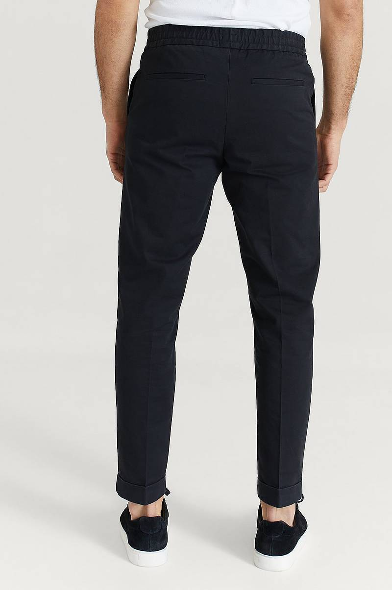 Housut M. Terry Cropped Trouser