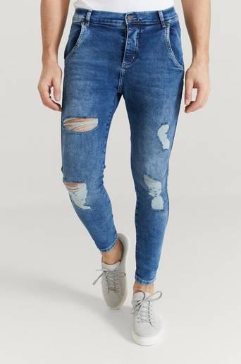 SIKSILK Jeans Distresed Skinny Denims Blå