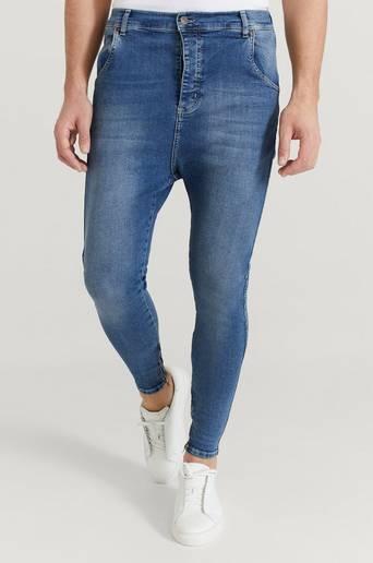 SIKSILK Jeans Drop Crotch Denims Blå