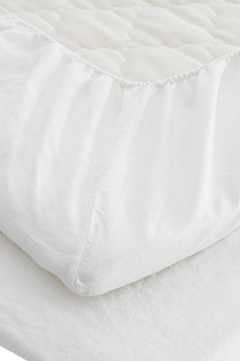 Lagen Washed Linen Fitted Sheet